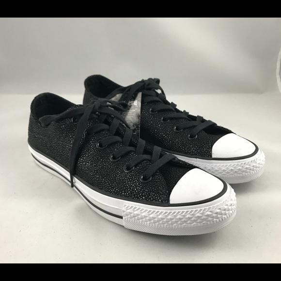 1e72dbf2c6dd9a Converse Allstar Ox Stingray metallic Leather shoe